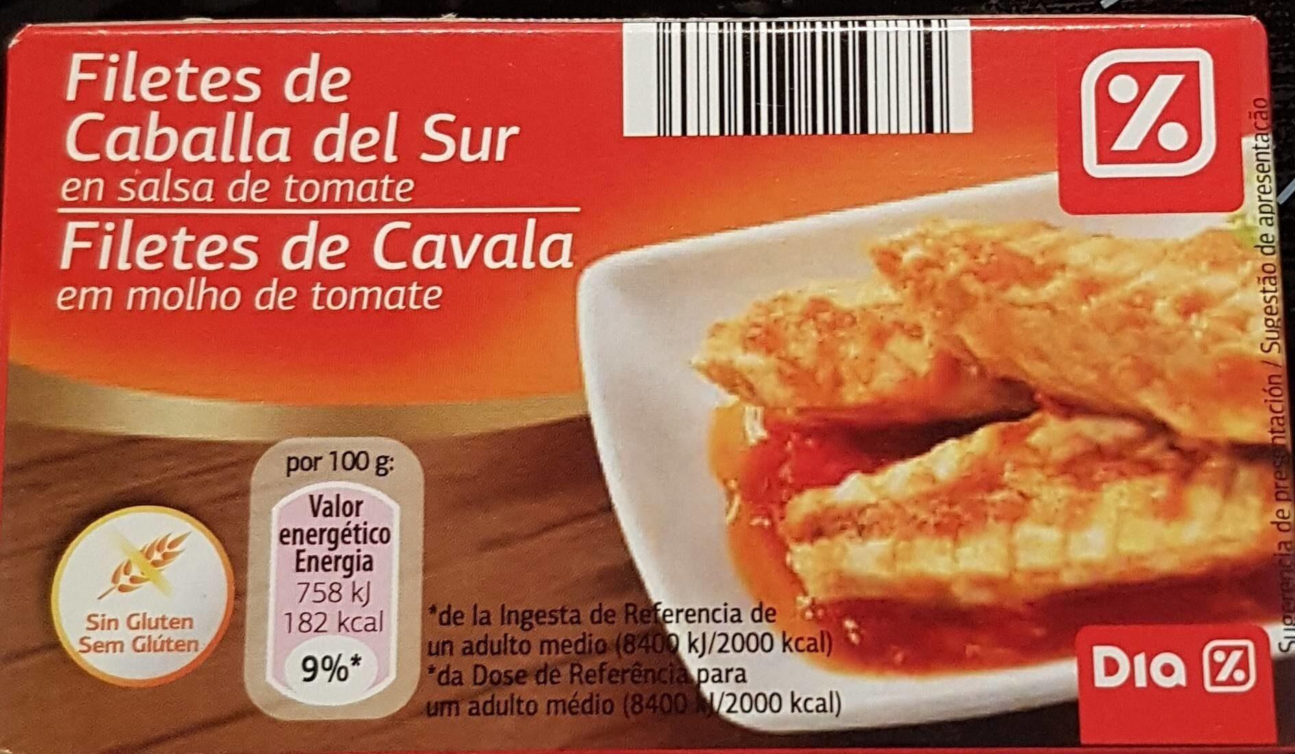 Filetes de Caballa del Sur en salsa de tomate - Producte