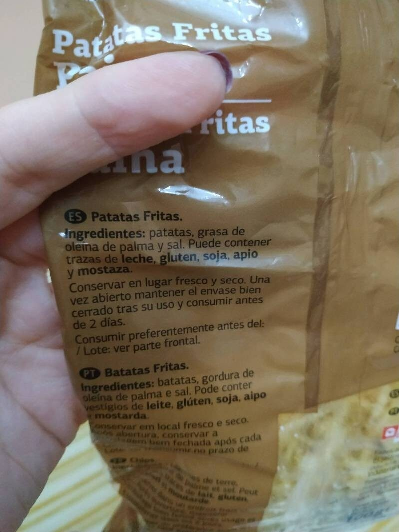 Patatas Paja - Ingredients