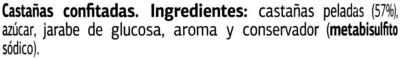 Marron glace - Ingredients - es