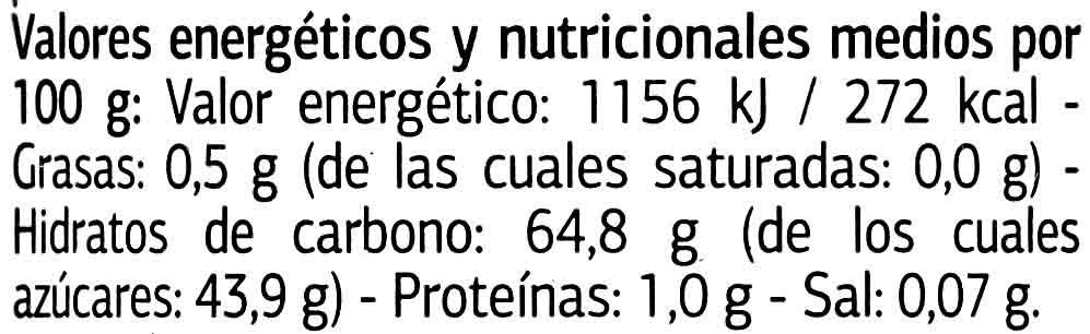 Marron glace - Nutrition facts - es
