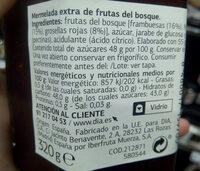Mermelada de frutas del bosque - Ingredientes