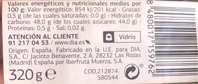 Mermelada de arandanos - Nutrition facts
