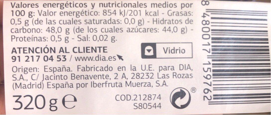Mermelada de arandanos - Nutrition facts - es