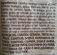 Pão 100% integral multigrãos - Ingredientes - pt