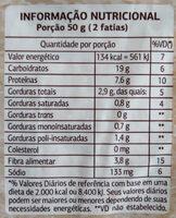 Pão 100% integral multigrãos - Nutrition facts - pt