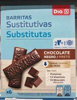 Barritas sustitutivas chocolate negro - Prodotto - es