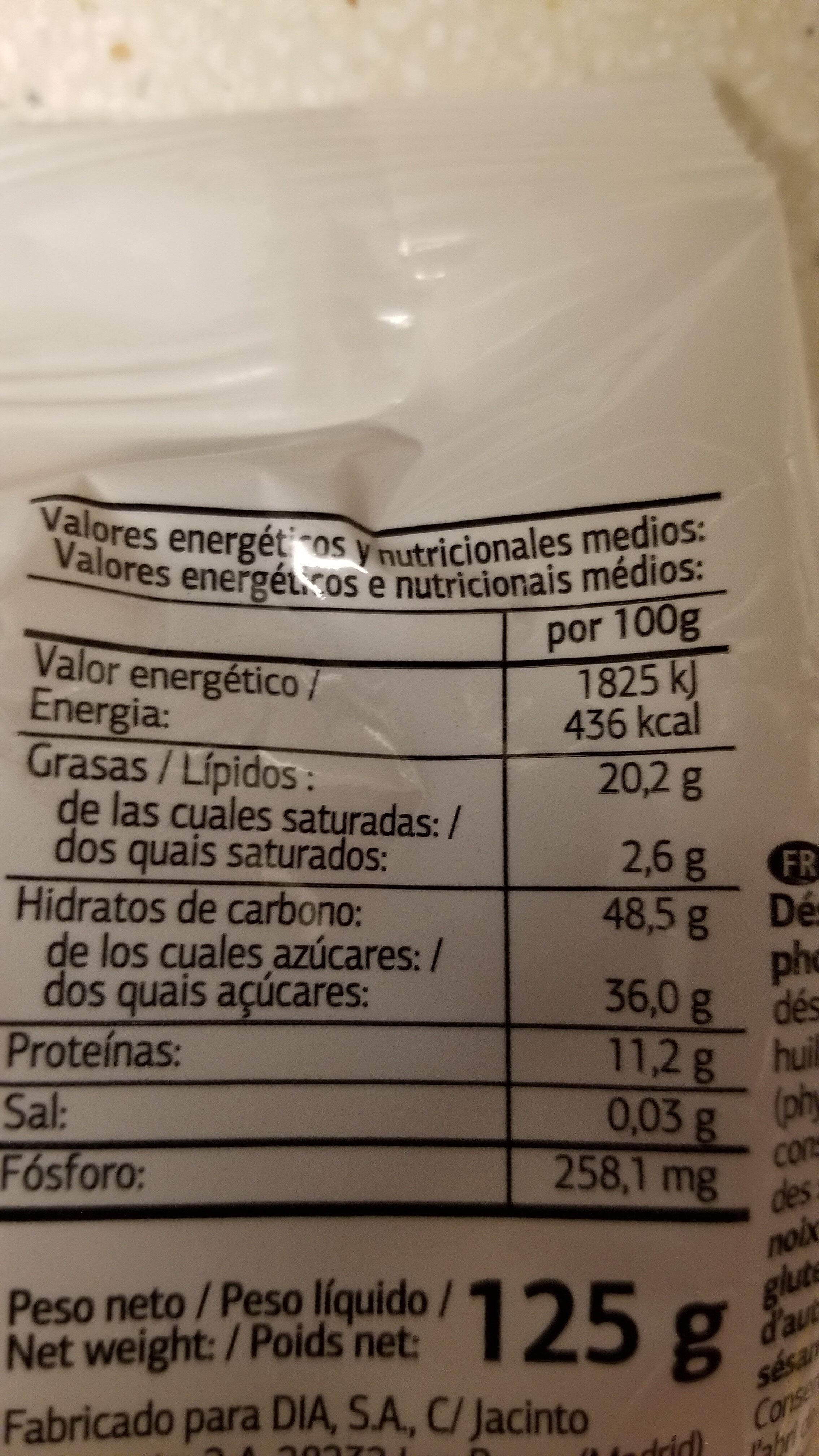 Cocktail Natural - Información nutricional - es