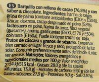 Wafer relleno de cacao - Ingredientes