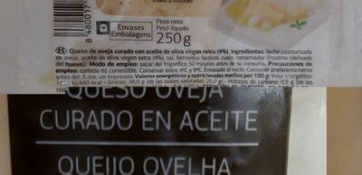 Queso en aceite - Información nutricional - es
