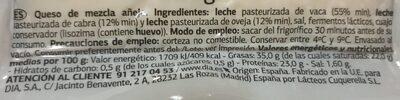 Queso añejo delicius - Nutrition facts
