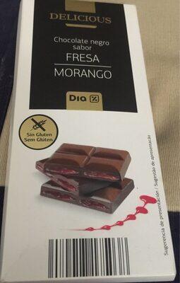Chocolate Negro sabor fresa