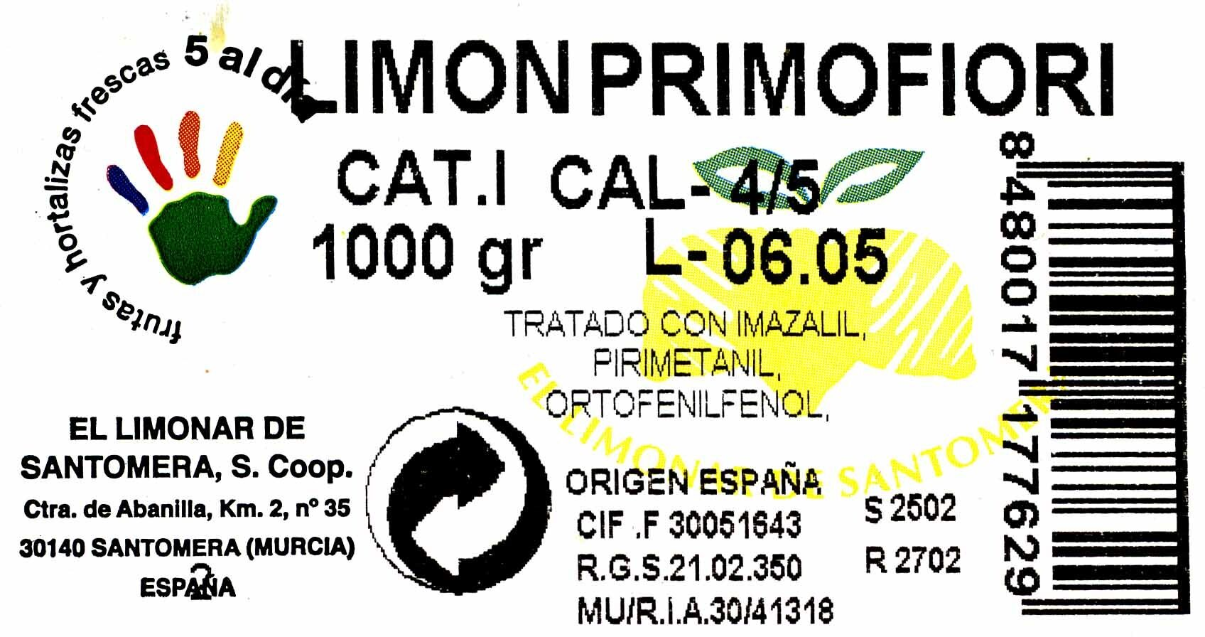 Limones - Ingredients