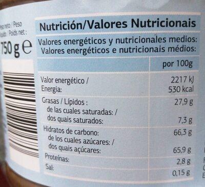 Duo - Información nutricional