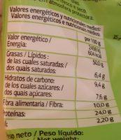 Pistachos Tostados - Dia - 200 G - Informations nutritionnelles