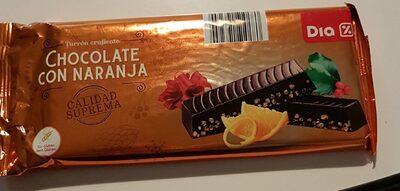 Turron crujiente chocolate con naranja