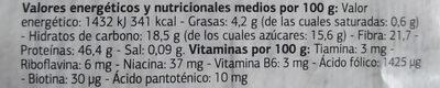 Copos de levadura de cerveza - Informations nutritionnelles - es