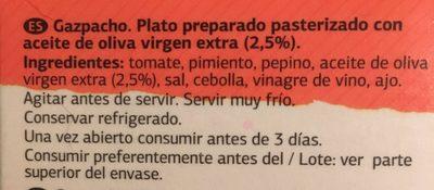 Gaspacho suave - Ingredientes