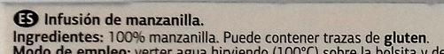 Manzanilla - Ingredientes - es