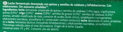 Bifidus con quinoa y semillas de calabaza - Ingredientes