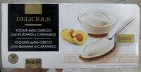 Delicious yogur estilo Griego con plátano y caramelo - Producto - es