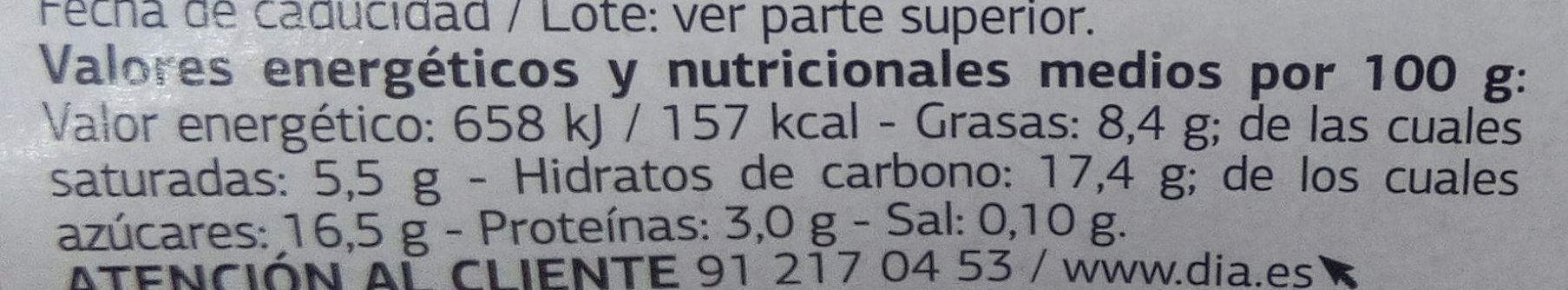 Yogurt estilo Griego con plátano y caramelo - Nutrition facts