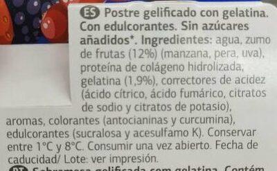 Gelatina alto contenido en proteinas - Ingredients - es