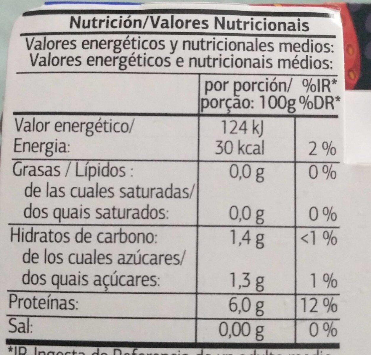 Gelatina alto contenido en proteinas - Informació nutricional - es
