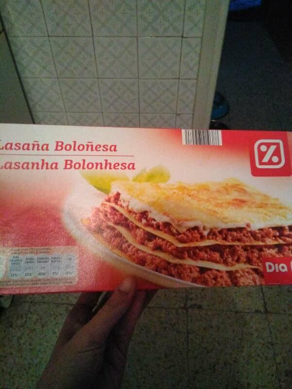 Lasaña boloñesa - Producto