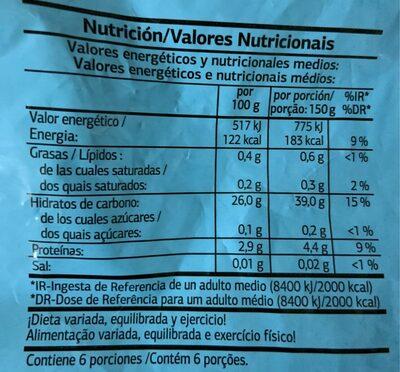 Arroz Precocido - Información nutricional - es