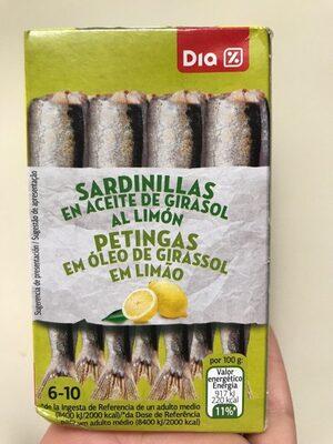 Sardinillas en aceite de girasol al limón - Prodotto - es