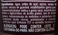Açaí com guaraná - Ingredientes - pt