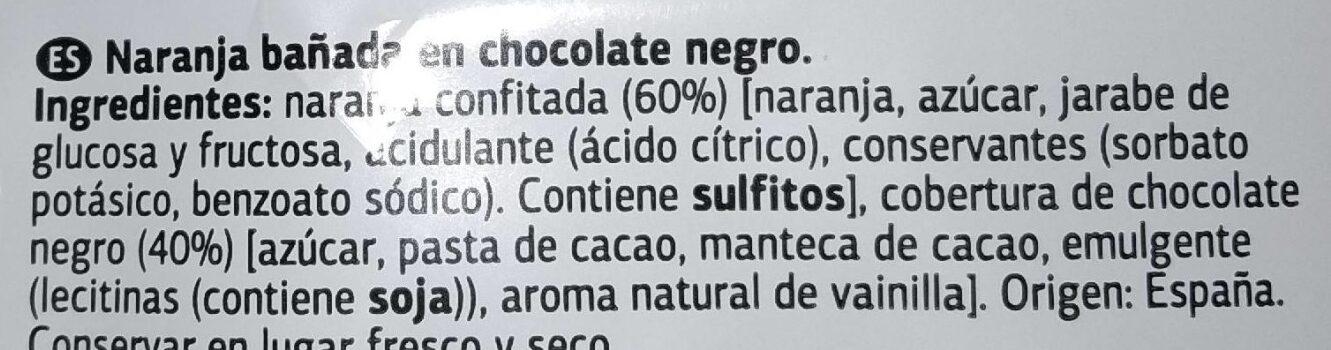 Naranja bañada en chocolate negro - Ingrediënten - es