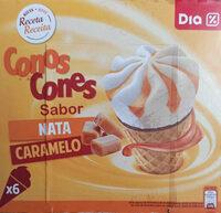 Conos sabor nata caramelo - Producte - es