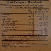 Conos sabor nata caramelo - Informació nutricional - es