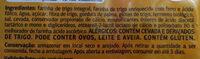 Pão de forma integral - Ingredients - pt