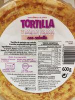 Tortilla con cebolla - Producto - es