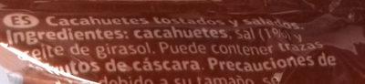 Cacahuete frito salado - Ingredients - es
