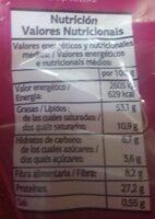 Cacahuete frito salado - Informació nutricional - es