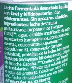 Bifidus con kiwi 0% - Ingredientes - es