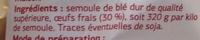 Pâtes d'Alsace de tradition, Tagliatelle aux œufs - Ingrédients - fr