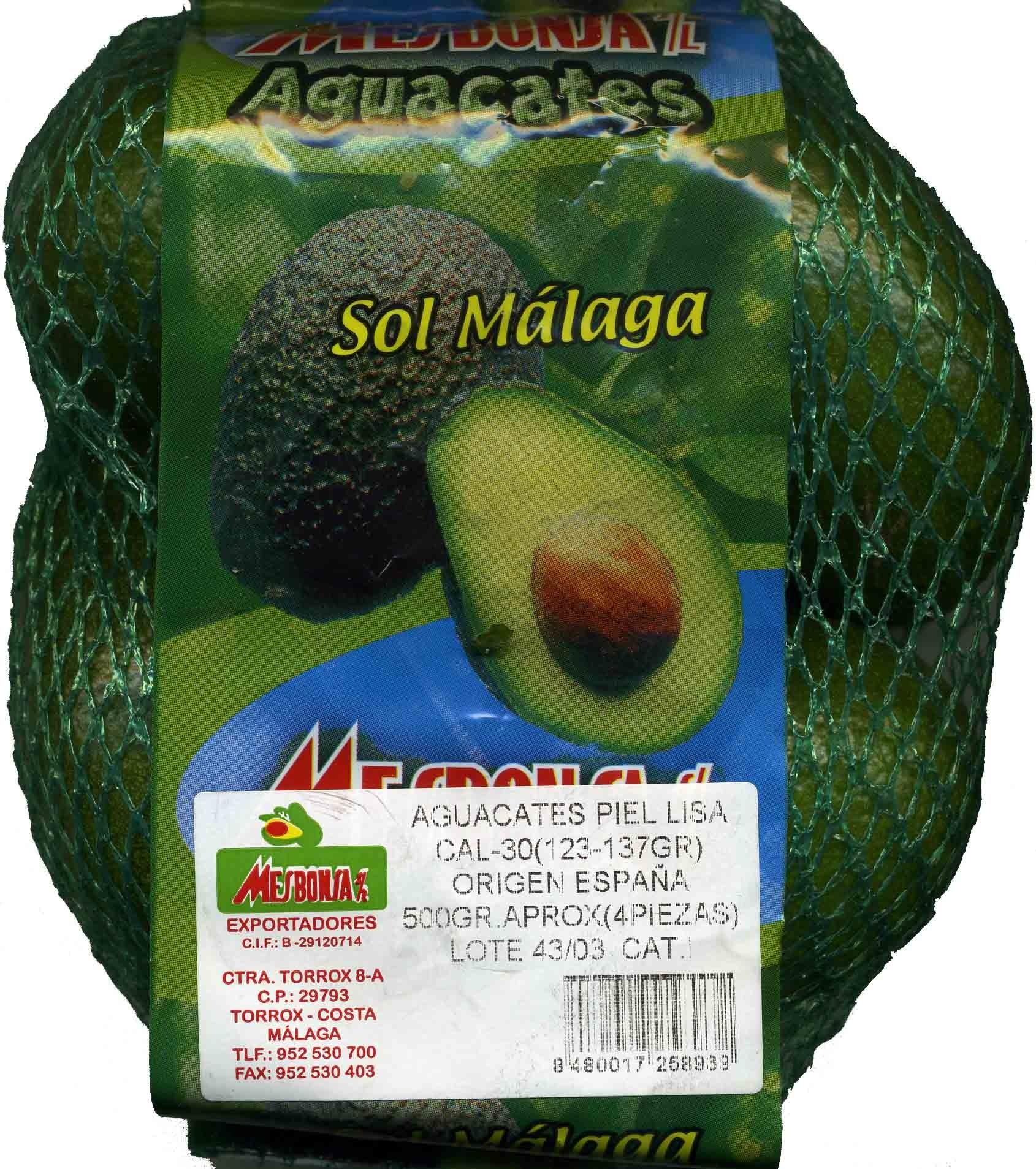 "Aguacates ""Sol Málaga"" - Product"