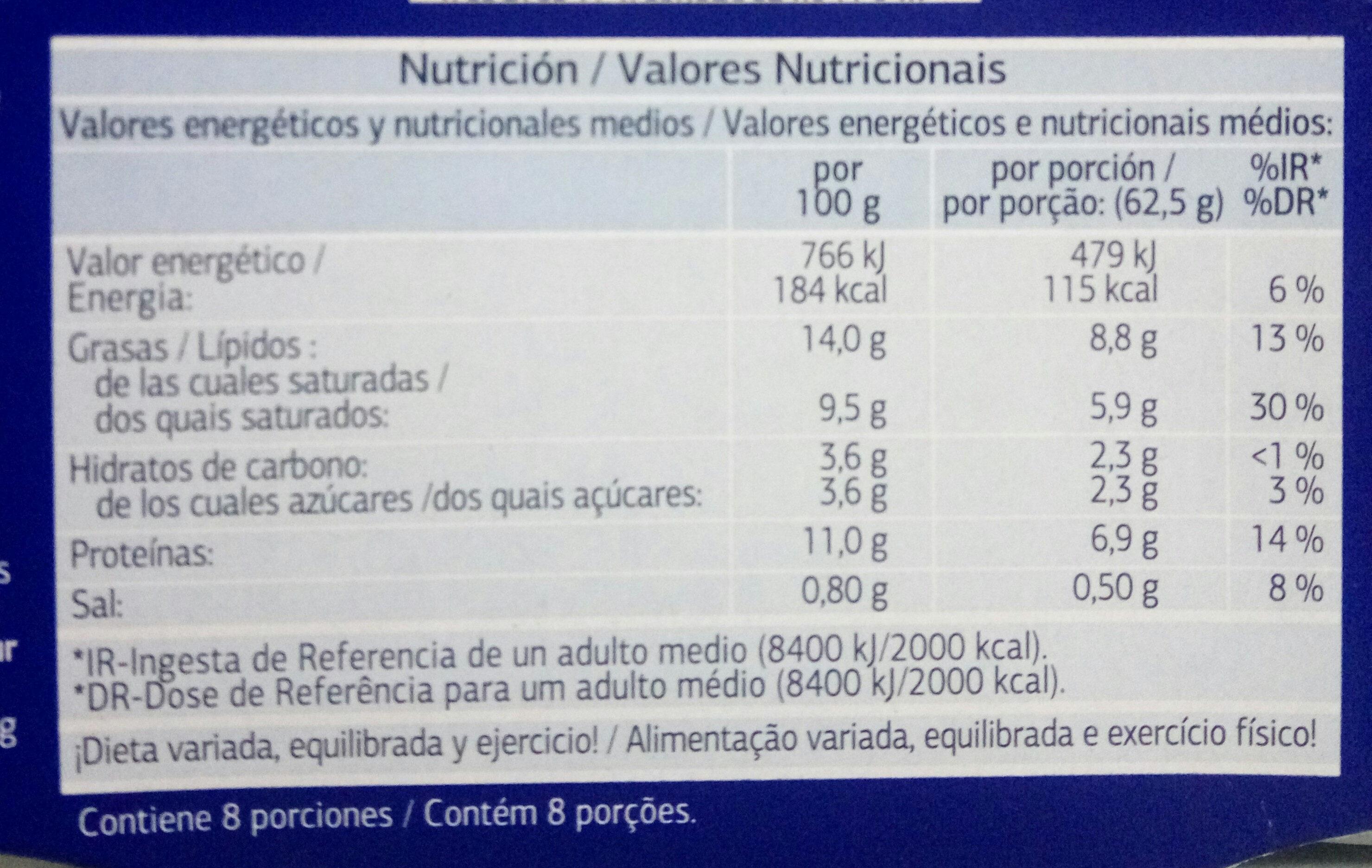 Queso Fresco - Informació nutricional