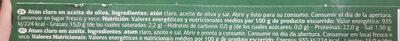 Atún claro oliva - Informations nutritionnelles - fr
