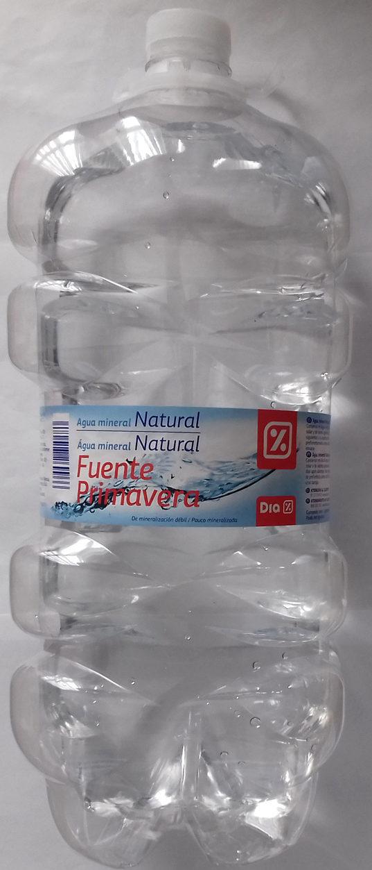 Agua mineral natural - Producto - es