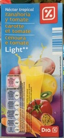 Nectar tropical Carotte et Tomate Light - Product