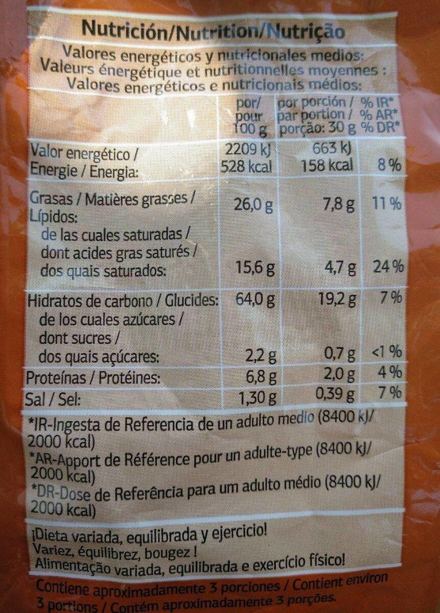 Snack Nachos Tex Mex - Información nutricional