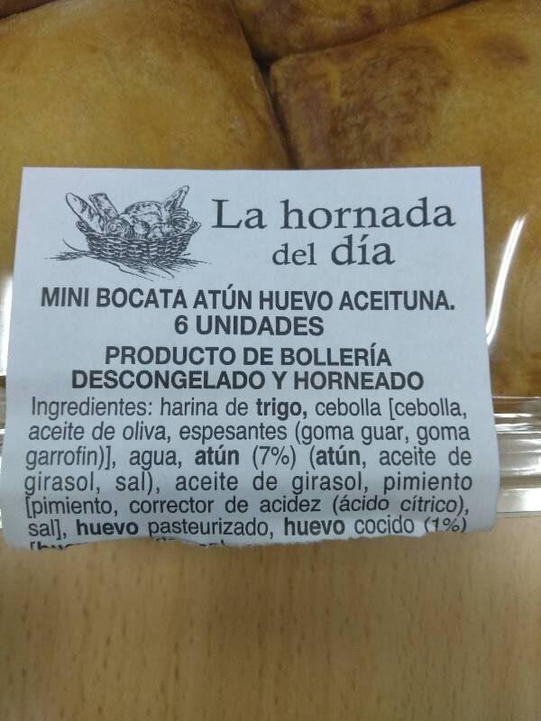 Mini bocata atun - Ingredients