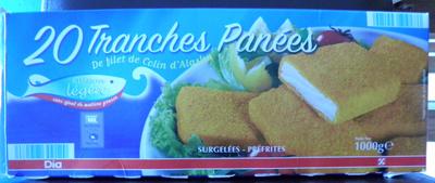 20 Tranches Panées de filet de Colin d'Alaska, Surgelées, Préfrites - Product - fr