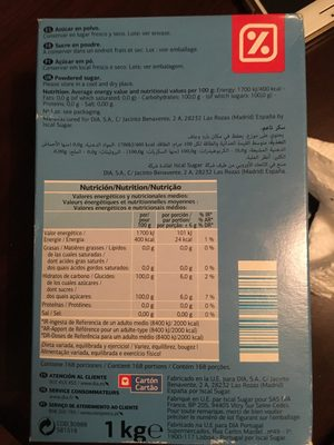 Sucre en poudre - Ingredients