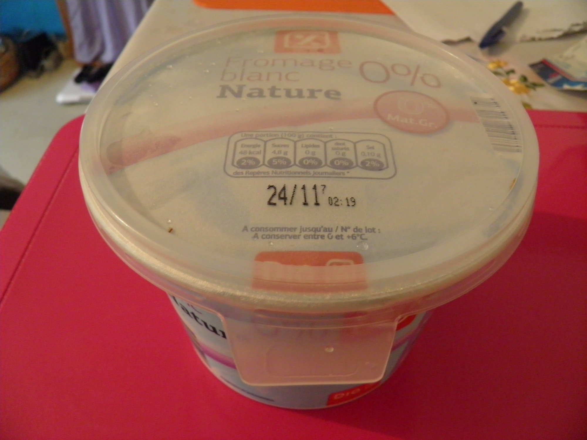 Fromage blanc Nature (0% MG) 1 kg - Dia